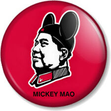 "MICKEY MAO 25mm 1"" Pin Button Badge Internet Meme Chairman Communist Joke Disney"