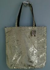 NWT Victorias Secret Heavenly Gold Sequin Angel Wing Tote Bag Retail $40 Bling
