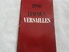 1980 Lincoln Versailles Owners Manual 80