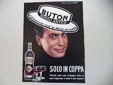 advertising Pubblicità 1964 BUTON ROSSO ANTICO