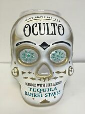 Oculto Skull Head Tip Jar Acrylic Tequila Barrel Staves New & F/S Please Read 9""