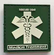 Hot  RESCUER GEAR. Medical Treatment.PVC 3D Rubber   Patch .   SK  9