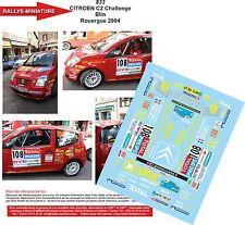 DÉCALS 1/18 réf 833 CITROEN C2 Challenge  Blin Rouergue 2004