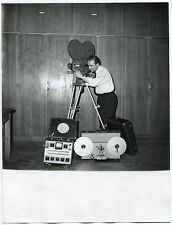 Photo Raoul Saguet - Auricon - Tournage Camera - Tirage d'époque 1960 -