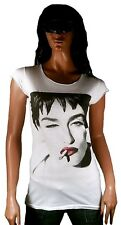 Rare AMPLIFIED IKONS MADONNA Cigarette Rock Star Tunika Longshirt T-Shirt g.XS