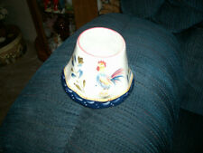 Home Interior Candle Topper With Rooster Design