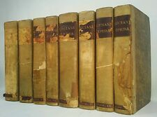 1822 LUCIANI SAMOSATENSIS OPERA~Antique 8 Book Set~Very Old RARE Decor Lot