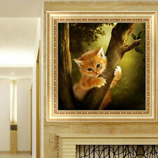 DIY 5D Diamond Embroidery Mosaic Naughty Cat Painting Cross Stitch  Decor Home