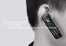Smallest Mini Thumb Mobile Cell Phone Headset Bluetooth SIM Car Earphone Dialer