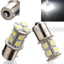 2x 1156 R10W BA15S 245 P21W 13 LED 5050 SMD White Tail Brake Signal Light Bulb