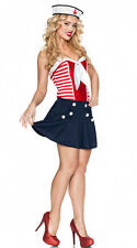 Vintage Sailor Girl Costume Patriotic Nautical Halloween Adult Size Large