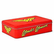 Wonder Woman de almacenamiento con insignia de Lata Retro Keepsake Dc Comics Justice League Film De Regalo