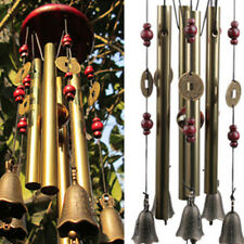 Bronze Metal Chape Church Bells Wind Chime Outdoor Garden Hanging Pavilion