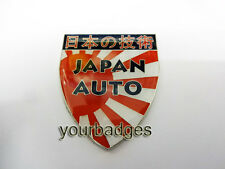 NEW Japan Auto Chrome Enamel Car Badge Mazda Honda