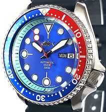 Vintage SEIKO 7S26 diver SKX PEPSI mod -PLONGEUR hands BLUE Mother of Pearl dial