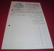 Facture alt ANTIK Banzhaf gravier Institut blason email panneaux 1919 papier