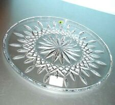 """Waterford Crystal Lismore 12"""" Cake Plate Round 9969876400 New In Box"""