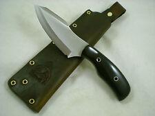 Triple-X Knives One Off Custom Bush Magic Knife, L6 Tool Steel, Black Micarta