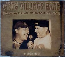 THE GREG BILLINGS BAND (FEAT. BRIAN JOHNSON) : MIDNITE HOUR / 2 TRACK-CD - NEU