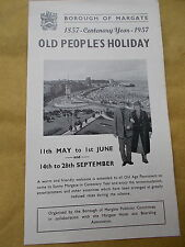 Borough Of Margate -Century Year 1857 - 1957 Old People's Holiday Brochure