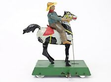 Antique Bucking Bronco Wild West Theme (after Lehmann) Operating Tin Windup Toy
