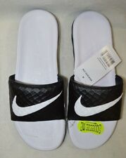 Nike Women's Benassi Solarsoft Black/White Slides Sandals - Size 7/8/9/10