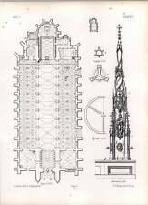 Gothic Ulm Ground Plan Minster Chapel Of Holy Blood
