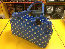 BLUE HANDLES POLKA DOT WHITE SPOTS MESSENGER DOTTY SIDE SHOULDER STRAP BAG NEW