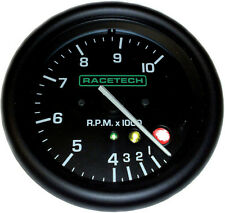 Racetech Shift Light Tachometer Rev Counter 80mm Stepper Motor 0-10Krpm 4/6/8Cyl