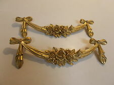 ROSES AND BOWS ANTIQUE GOLD CUPBOARD DECORATIVE FURNITURE MOULDINGS