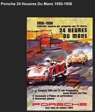 Porsche 24 Heures Du Mans 1950-1956 Licensed Car Poster Own It!