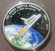 2012 Cook Islands Space Shuttle moneda! sólo 981 unidades! $1 dólares