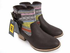 CAT by Caterpillar Willa Canvas Brown Women's Ankle Boots Size 7.5 NEW