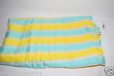 NWT Gap Womens Bright Strip White Yellow Teal Scarf Shawl Wrap One Size NEW