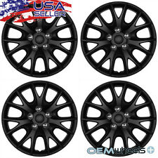 "4 NEW OEM MATTE BLACK 15"" HUB CAPS FITS HONDA SUV CAR JDM CENTER WHEEL COVER SET"
