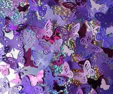 100 decorative butterflies. Purple/Lilac. 3 pack choices. Weddings, cardmaking