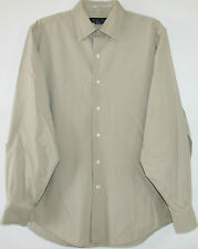 Men's Brooks Brothers Casual Button Front Shirt M Cotton Lycra Long Sleeve Khaki