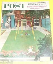 Post Magazine  06/08/1957 Baby Picking Flowers cover Nice Picture!  See!