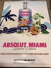Absolut Miami Poster 24 By 36.  New