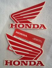 2 X GENUINE HONDA WING FUEL TANK STICKER DECAL 90mm RED & WHITE **UK STOCK**