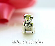 Authentic Pandora 925 #791379cz Labrador Dog slide Bead Charm Jewelry NWOB