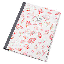 Seashells A-Z Contact Address Book A5 Spiral Lined Paper Hardback Notebook Beach