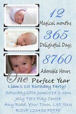 10 personalizzato il mio 1st festa di compleanno Inviti pubblicati 1 stClass Blu