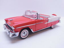 LOT 38966 Franklin Mint 1:24 Chevrolet BelAir 1955 Cenvertible Cabrio neuwertig
