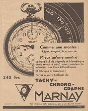 Z8354 Chronographe MARNAY - Pubblicità d'epoca - 1933 Old advertising