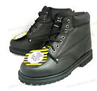 "New Men's Steel Toe Work Boots 6"" Black Leather Oil Resistant Ankle Shoes, Sizes"
