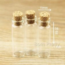 Mini Transparent Corked Glass Nail Art Liquid Bottle Container