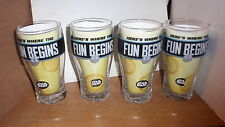 SET OF 4 HALLMARK STAR WARS PUB GLASSES ~HERE'S WHERE THE FUN BEGINS FREE SHIP