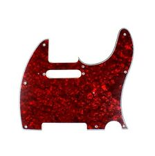 (E05) 4Ply Telecaster Tele Style Guitar Pickguard, Red Pearl