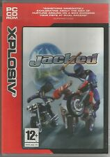 JACKED PC CD-ROM Motor Bike Racing Fighting Action Game FREE SHIPPING !!!